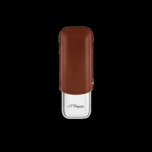 S.T.Dupont Etui für zwei Zigarren (braun)