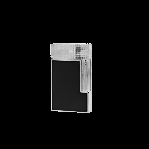 S.T.Dupont Ligne 2 (Platin, Diamantspitzenmuster, Schwarz matt)
