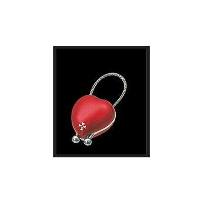 Sillems Schlüsselanhänger Herz rot 1341R