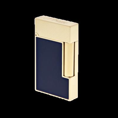 S.T.Dupont Ligne 2 (Gelbgold, Diamantspitzenmuster, blauer Lack)